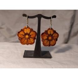 Boucles d'oreilles en bois...