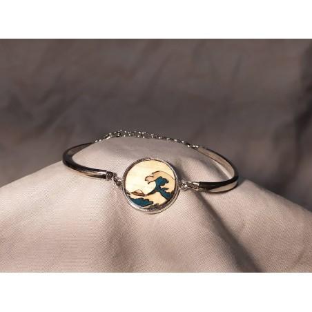 Bracelet Marqueté réglable en métal 02